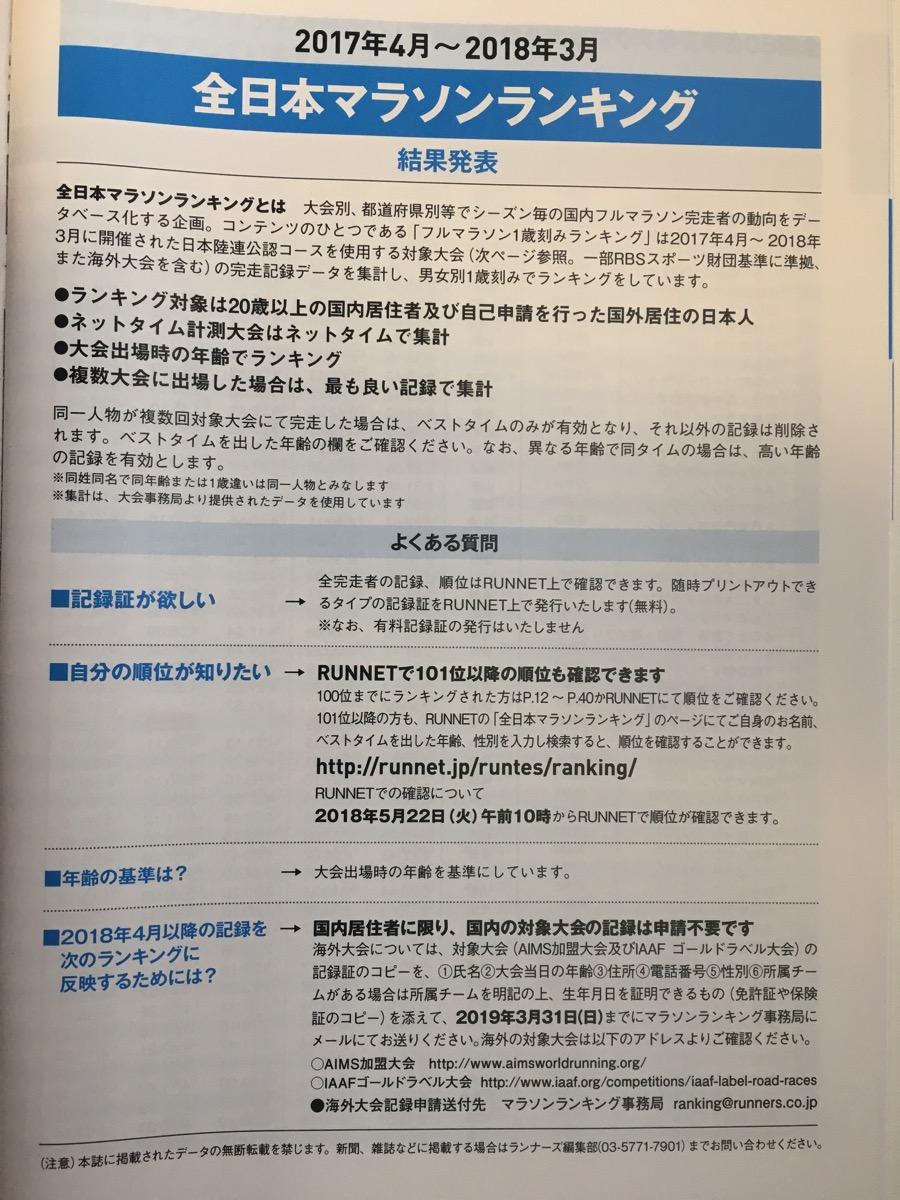 全日本マラソンランキングとは?月刊ランナーズ別冊付録より