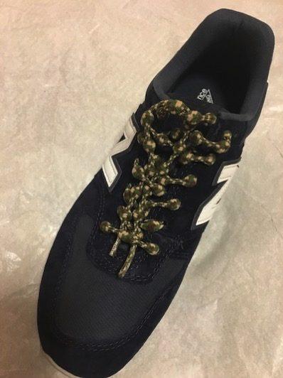 キャタピランを通した靴