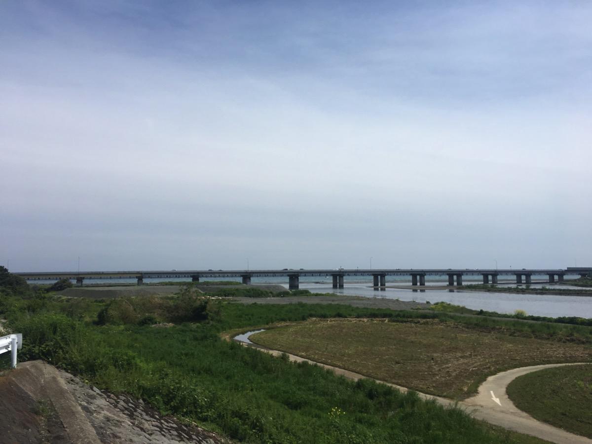 酒匂橋からの相模湾