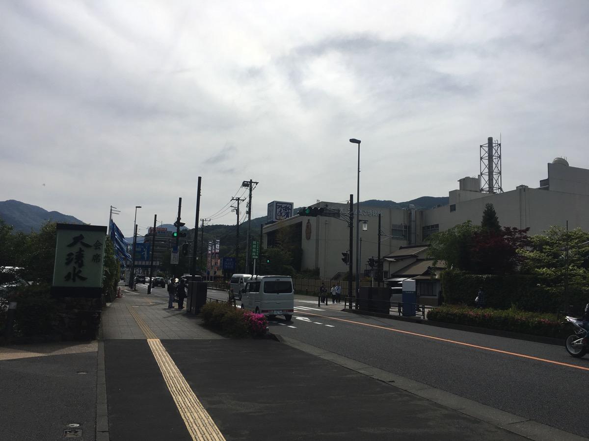 小田原中継所付近