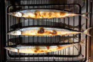 秋刀魚の網焼き3尾