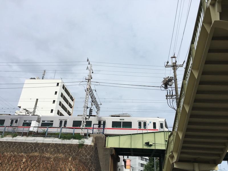 名鉄線高架 東枇杷島駅そば