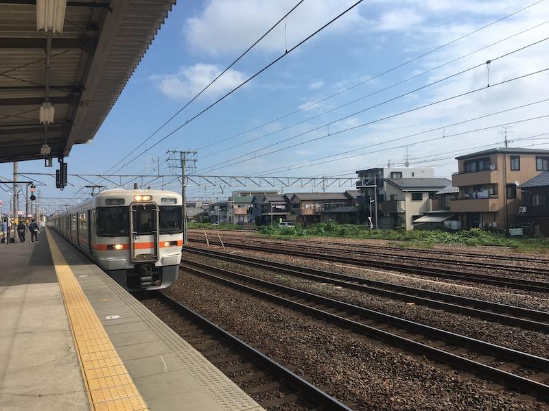清洲駅ホームから