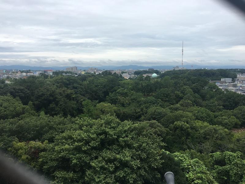 浜松城天守閣からの眺め1
