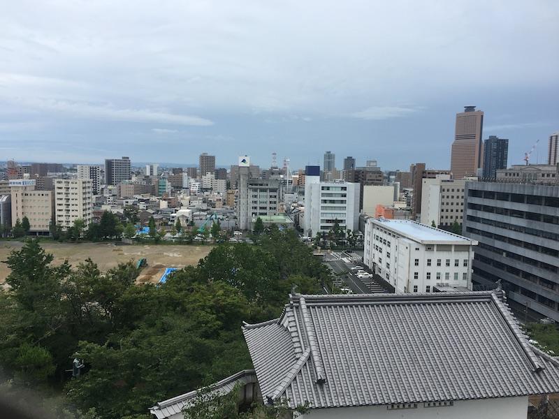 浜松城天守閣からの眺め2