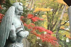 高尾山の紅葉と仏像