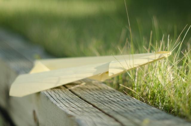 紙飛行機 離陸前