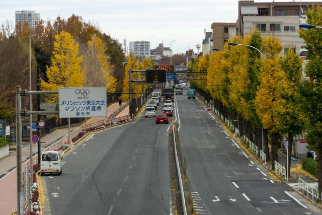 東京五輪マラソン折り返し地点