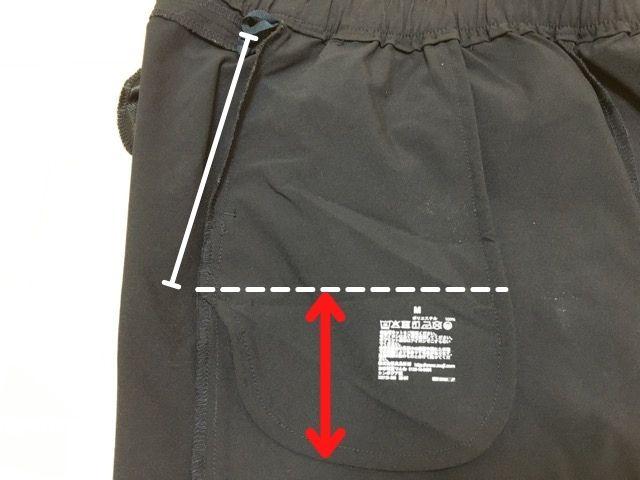 前ポケットの大きさ・深さ