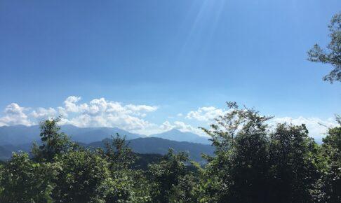山々と青空