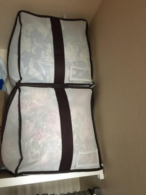 布団収納袋を縦に2つ、ぴったり収まりました!!