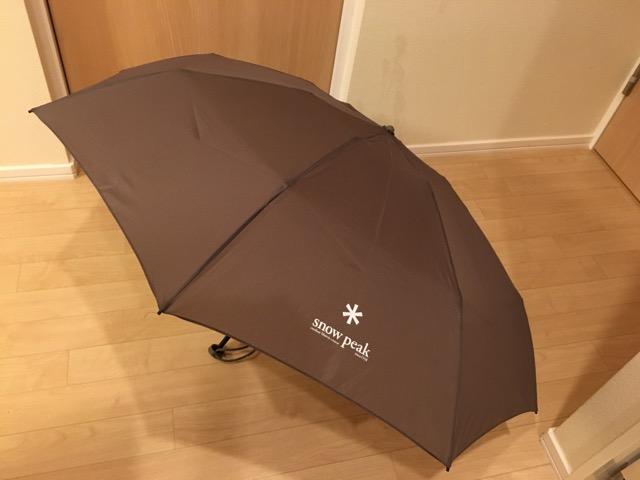 スノーピーク傘のロゴの大きさ感
