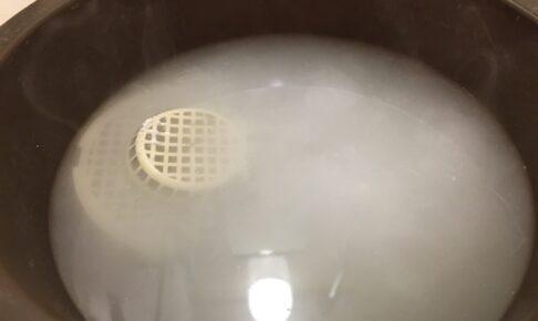 過炭酸ナトリウムが発泡中
