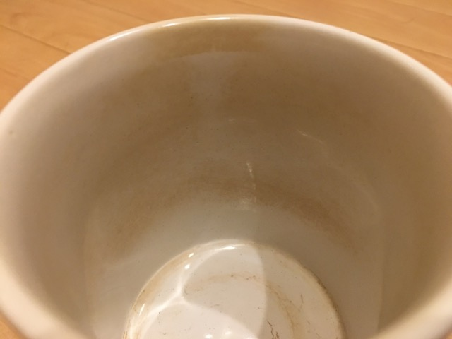 マグカップのコーヒー茶渋