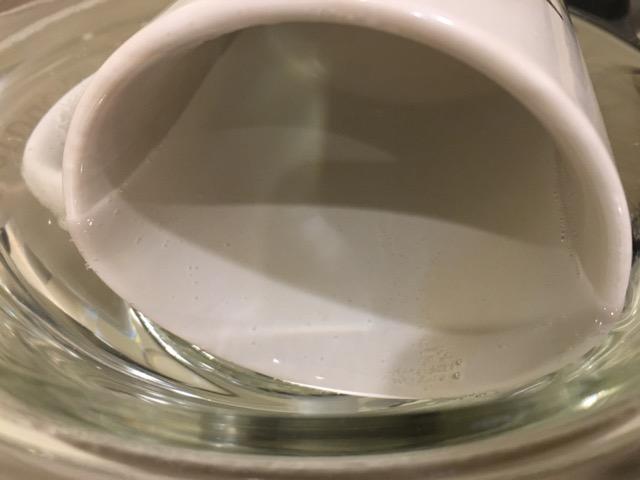 酸素系漂白剤つけ置き15分で白くなった