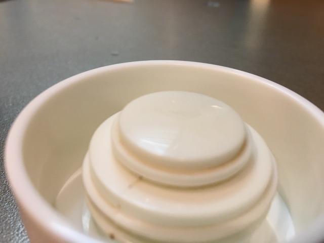 水筒の蓋を洗う前